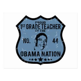 1ra nación de Obama del grado Postal