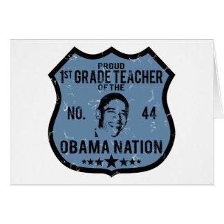 1ra nación de Obama del grado Tarjeta De Felicitación