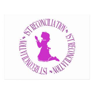 1ra reconciliación - primera confesión (chica) postal