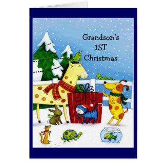 1ra tarjeta de felicitación de la Navidad del niet
