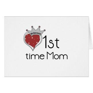1ra tiempo mamá de la princesa tarjeta de felicitación