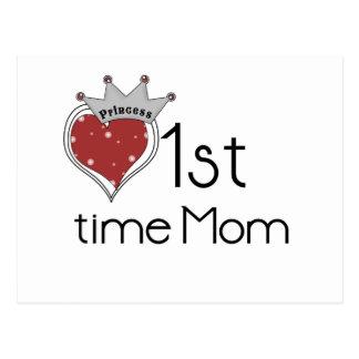 1ra tiempo mamá de la princesa tarjetas postales
