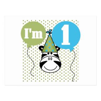 1ras camisetas y regalos del cumpleaños de la cebr tarjetas postales