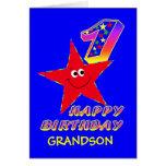 1ras tarjetas de cumpleaños de la estrella sonrien