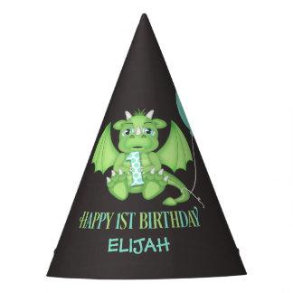 1ros gorras del fiesta del papel del cumpleaños