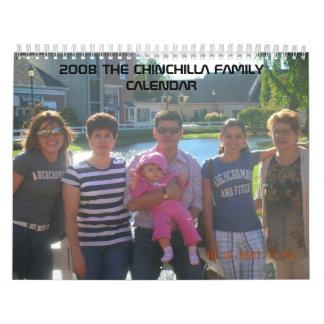2008 EL CALENDARIO DE LA FAMILIA DE LA CHINCHILLA
