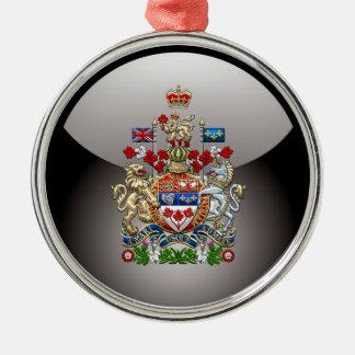 [200] Escudo de armas de Canadá [3D] Adorno Navideño Redondo De Metal