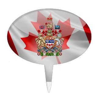 [200] Escudo de armas de Canadá [3D] Decoración Para Tarta