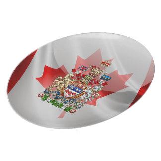 [200] Escudo de armas de Canadá [3D] Plato De Cena