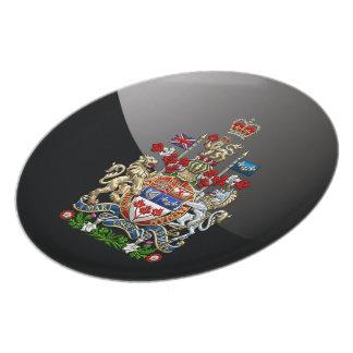 [200] Escudo de armas de Canadá [3D] Platos