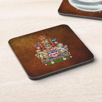 [200] Escudo de armas de Canadá [3D] Posavasos De Bebida