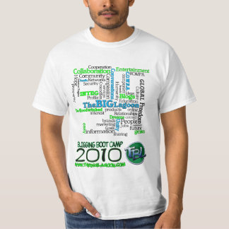 2010 Boot Camp Blogging Wordshirt Camiseta