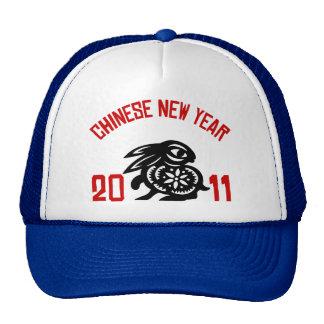 2011 años del regalo del corte del papel del conej gorras
