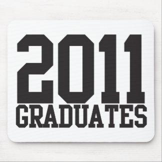 ¡2011 graduados en fuente enrrollada del bloque! alfombrilla de ratón