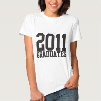 ¡2011 graduados en fuente enrrollada del bloque! camiseta