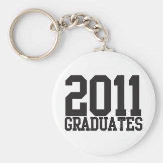 ¡2011 graduados en fuente enrrollada del bloque! llaveros personalizados