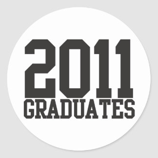¡2011 graduados en fuente enrrollada del bloque! pegatinas