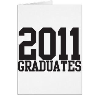 ¡2011 graduados en fuente enrrollada del bloque tarjeta