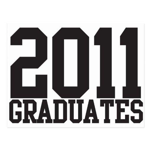 ¡2011 graduados en fuente enrrollada del bloque! postal