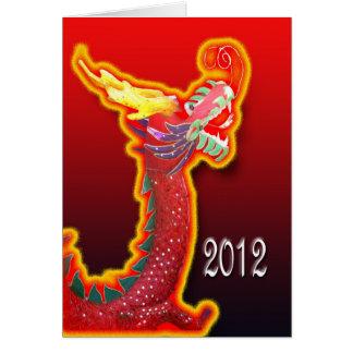 2012 años de la tarjeta china del Año Nuevo del dr