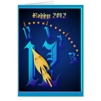 2012-Clock feliz que pega 12: Nanómetro Felicitaciones