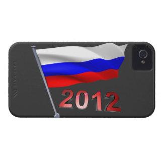2012 con la bandera rusa iPhone 4 Case-Mate carcasas