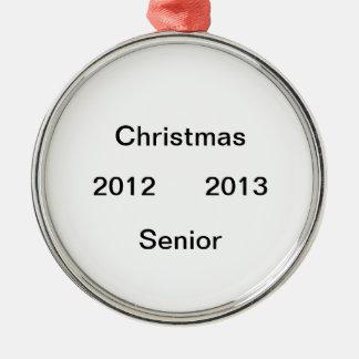 2012 ornamento de 2013 últimos años adorno navideño redondo de metal