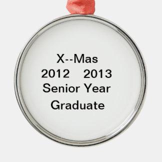 2012--Ornamento graduado de 2013 últimos años Adorno Navideño Redondo De Metal
