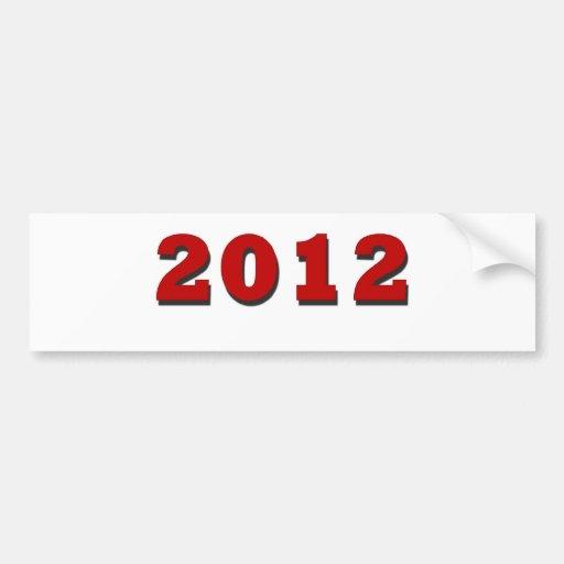 2012 PEGATINA DE PARACHOQUE