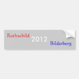 2012, Rothschild, Bilderberg Pegatina Para Coche