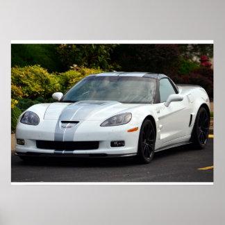 2013 60.os Corvettes ZR1 del aniversario C6 Póster