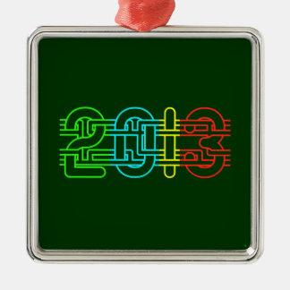 2013 colorido adorno cuadrado plateado