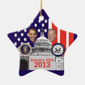 2013 inaugural adorno de cerámica en forma de estrella