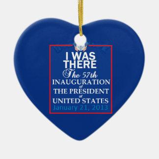2013 inaugural adorno navideño de cerámica en forma de corazón