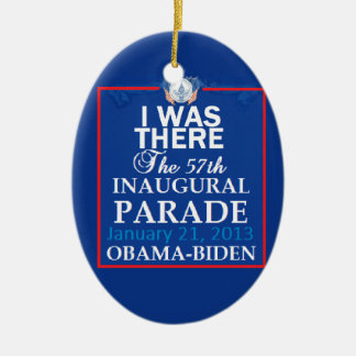 2013 inaugural adorno navideño ovalado de cerámica