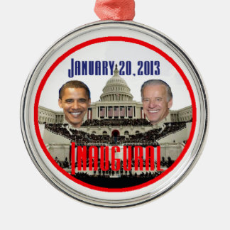 2013 inaugural adorno navideño redondo de metal