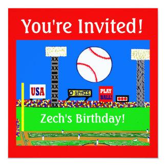 2013 invitaciones de la fiesta de cumpleaños del invitación 13,3 cm x 13,3cm