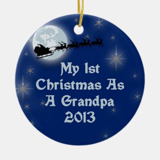 2013 mi 1r navidad como abuelo ornaments para arbol de navidad