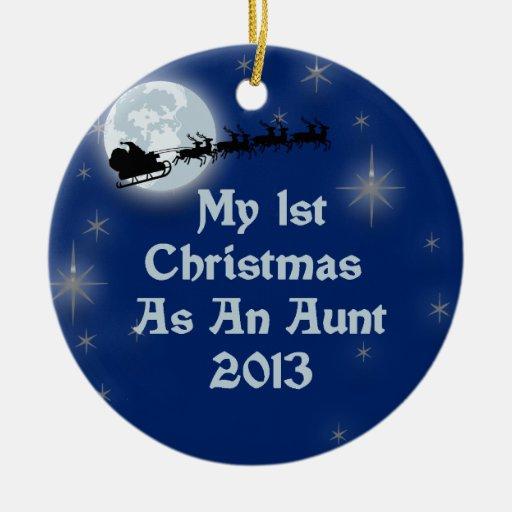 2013 mi 1r navidad como tía adornos de navidad