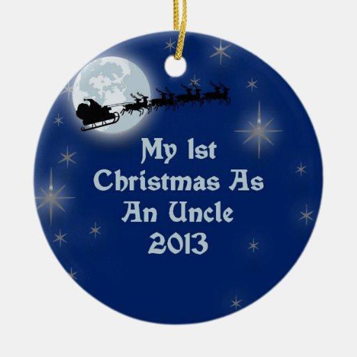 2013 mi 1r navidad como tío ornamentos para reyes magos