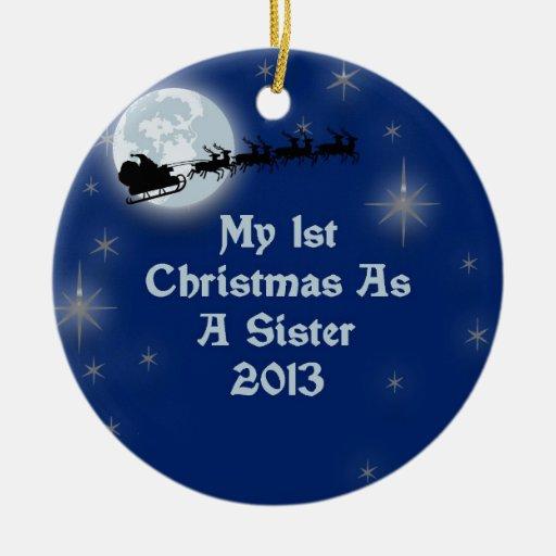 2013 mi 1r navidad una hermana ornatos