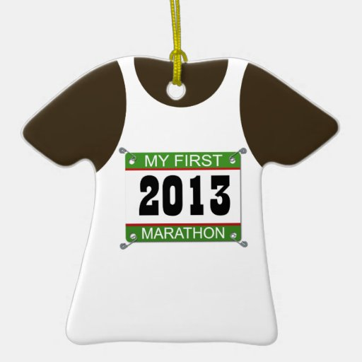 2013 mi primer ornamento de la camiseta del marató ornamentos para reyes magos