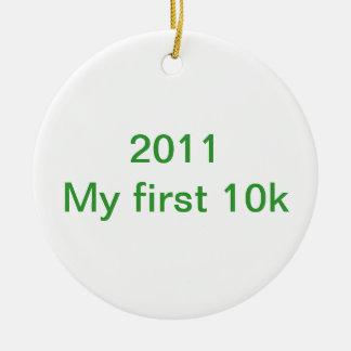 2013 mis primeros 10 k adorno redondo de cerámica