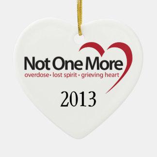 2013 no un más ornamentos adorno navideño de cerámica en forma de corazón