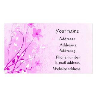 2013 tarjetas de visita florales rosadas del