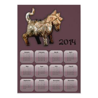 2014 años de calendario del caballo con el caballo invitación 12,7 x 17,8 cm