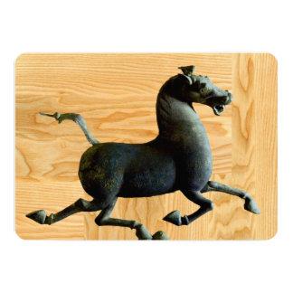 2014 años del caballo - invitaciones adaptables invitación 12,7 x 17,8 cm