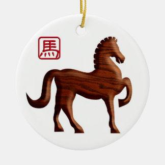 2014 Años Nuevos chinos del ornamento de madera de Ornato