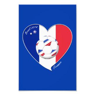 2014 Bandera de FRANCiA FÚTBOL campeón del mundo Arte Fotográfico
