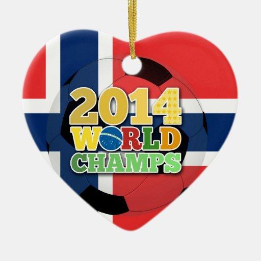 2014 bola de los campeones del mundo - Noruega Ornamento Para Arbol De Navidad